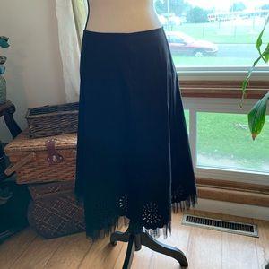 Sexy long black skirt